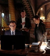 Pictured left to right: Michael Emerson, Jim Caviezel and Sarah Shahi Photo: Giovanni Rufino/Warner Bros. Entertainment Inc.
