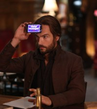 "Ichabod (Tom Mison) plays a game to distract his mind in the ""Magnum Opus"" episode of SLEEPY HOLLOW. Co. CR: Fred Norris/FOX"