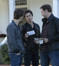 Pictured (L-R): Paul Wesley as Stefan, Ian Somerhalder as Damon and Matt Davis as Alaric -- Photo: Daniel McFadden/The CW
