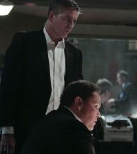 Pictured (L-R) Jim Caviezel as John Reese, Kevin Chapman as Lionel Fusco. Image © CBS