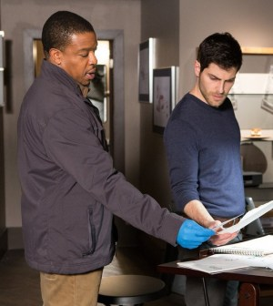 Pictured: (l-r) Russell Hornsby as Hank Griffin, David Giuntoli as Nick Burkhardt -- (Photo by: Scott Green/NBC)