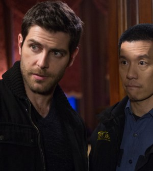 Pictured: (l-r) David Giuntoli as Nick Burkhardt, Reggie Lee as Sgt. Wu -- (Photo by: Scott Green/NBC)