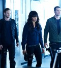 Pictured: (l-r) Aaron Ashmore as John, Hannah John-Kamen as Dutch, Luke Macfarlane as D'Avin -- (Photo by: Ken Woroner/Temple Street Releasing Limited)