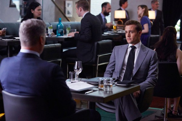 Pictured: Gabriel Mact as Harvey Specter -- (Photo by: Shane Mahood/USA Network)