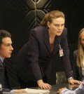 BONES:  L-R:  John Boyd, Emily Deschanel and guest star Kim Raver Co.  Cr:  Kevin Estrada/FOX
