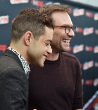 "NEW YORK COMIC CON -- ""Colony and Mr. Robot Press Room"" -- Pictured: (l-r) Rami Malek, Christian Slater -- (Photo by: Mike Coppola/USA)"