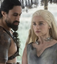 Pictured: Joe Naufahu as Khal Moro and Emilia Clarke as Daenerys Targaryen Credit: Macall B. Polay/HBO