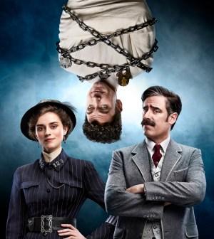 L-R: Rebecca Liddiard, Michael Weston and Stephen Mangan in HOUDINI & DOYLE premiering Monday, May 2 (9:00-10:00 PM ET/PT). © 2016 FOX Broadcasting Co. Cr: Mitch Jenkins / FOX.