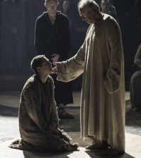 Pictured: Finn Jones as Loras Tyrell and Jonathan Pryce as The High Sparrow Credit: Helen Sloan/HBO