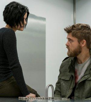 "BLINDSPOT -- ""Nor I, Nigel, AKA Leg In Iron"" Episode 210 -- Pictured: (l-r) Jaimie Alexander as Jane Doe, Luke Mitchell as Roman -- (Photo by: David Giesbrecht/NBC)"