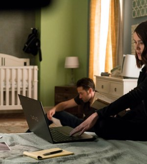 Pictured: (l-r) Ryan Eggold as Tom Keen, Megan Boone as Elizabeth Keen -- (Photo By: David Giesbrecht/NBC)