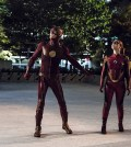 Pictured (L-R): Grant Gustin as The Flash and Violett Beane as Jesse Quick -- Photo: Katie Yu/The CW