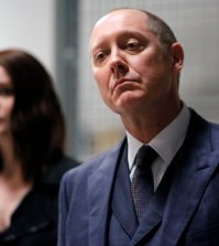 "Pictured: (l-r) James Spader as Raymond ""Red"" Reddington, Megan Boone as Elizabeth Keen -- (Photo by: Will Hart/NBC)"