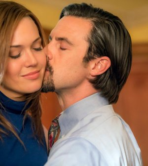 Pictured: (l-r) Mandy Moore as Rebecca, Milo Ventimiglia as Jack -- (Photo by: Ron Batzdorff/NBC)