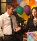 "BONES:  L-R:  David Boreanaz and Emily Deschanel in the ""The Brain in the Bot""   Co.  Cr:  Patrick McElhenney/FOX"