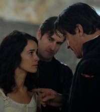 Pictured: (l-r) Abigail Spencer as Lucy Preston, Goran Visnjic as Garcia Flynn -- (Photo by: Sergei Bachlakov/NBC)