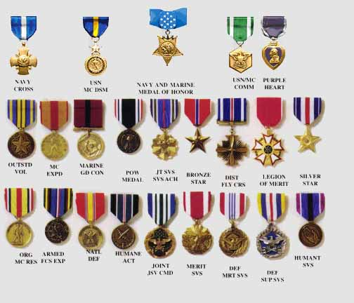 Medals Of Honor Page 1 of 2