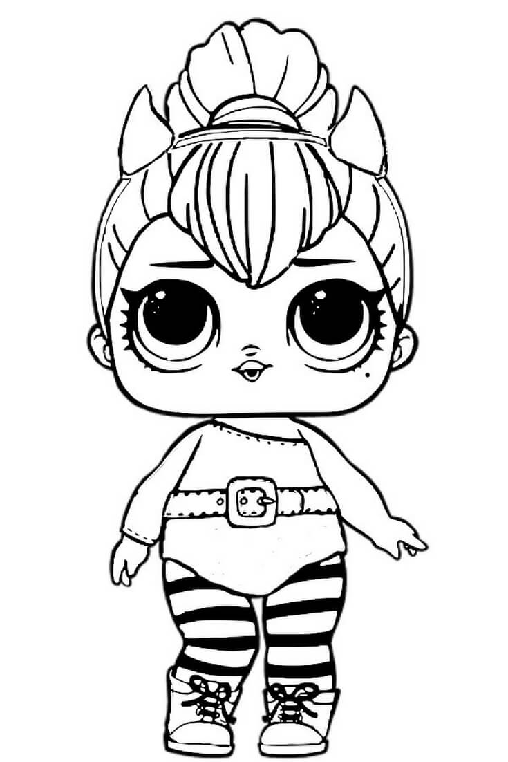 lol surprise doll coloring pages diva