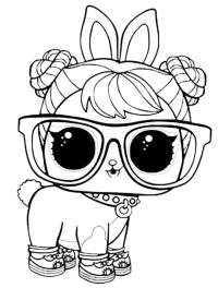 Lol Coloring In Lol Doll Luxe Coloring Page
