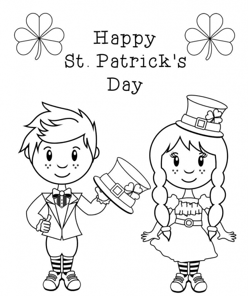 Cute St Patrick39s Day Coloring Pages Skip to my Lou Free