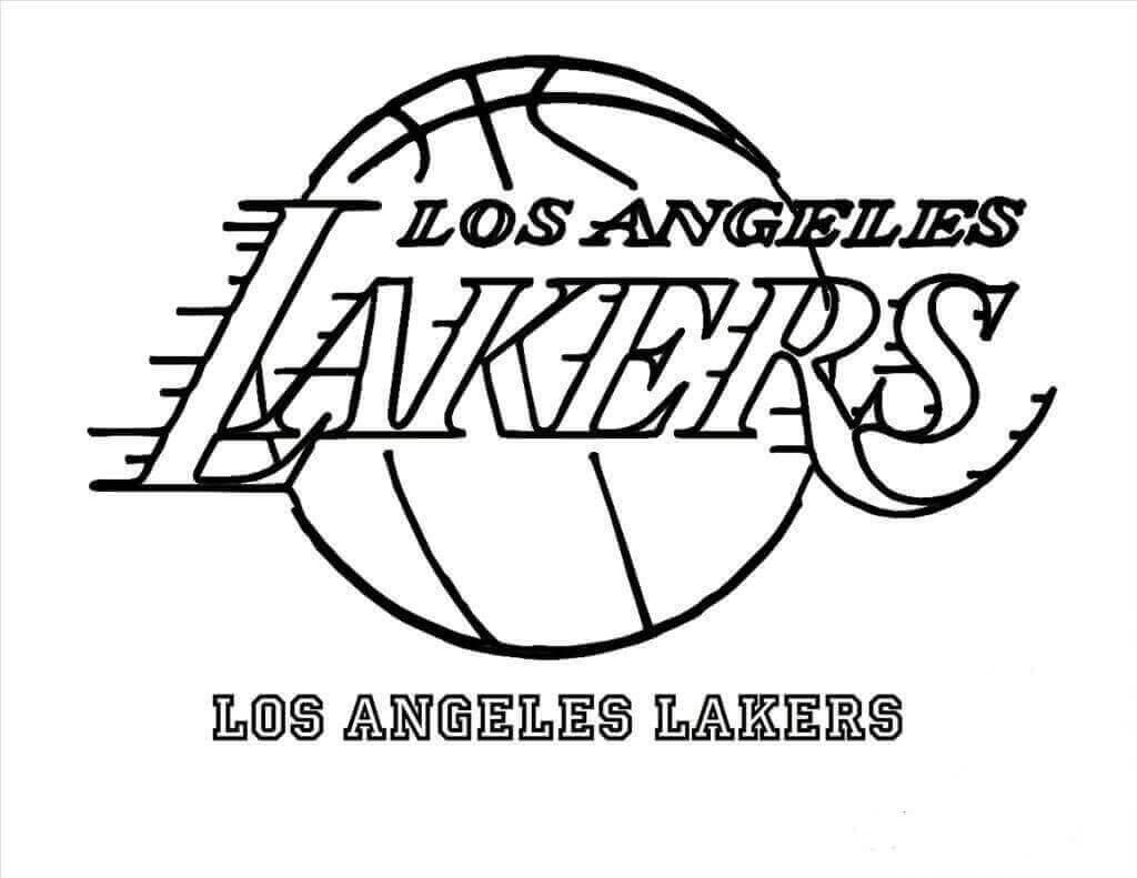 La Lakers Coloring Pages - Eskayalitim