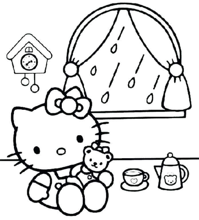 35 Free Printable Rainy Day Coloring Pages