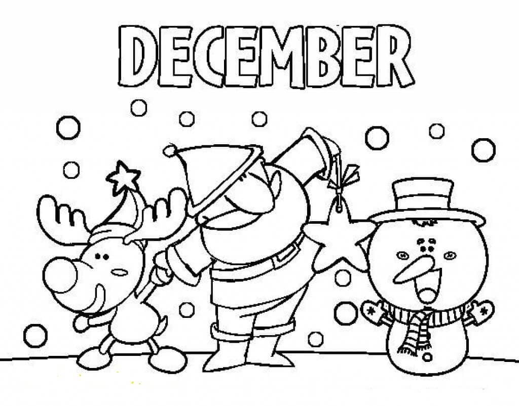 Coloring December pages advise dress in summer in 2019