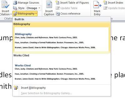 How to Create a Bibliography Using Word Scribendi