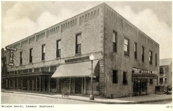 The Wilbur Hotel In Downtown Corbin, Kentucky. Corbin was dry for nearly a century but now has a craft beer bar-Wrigley Taproom