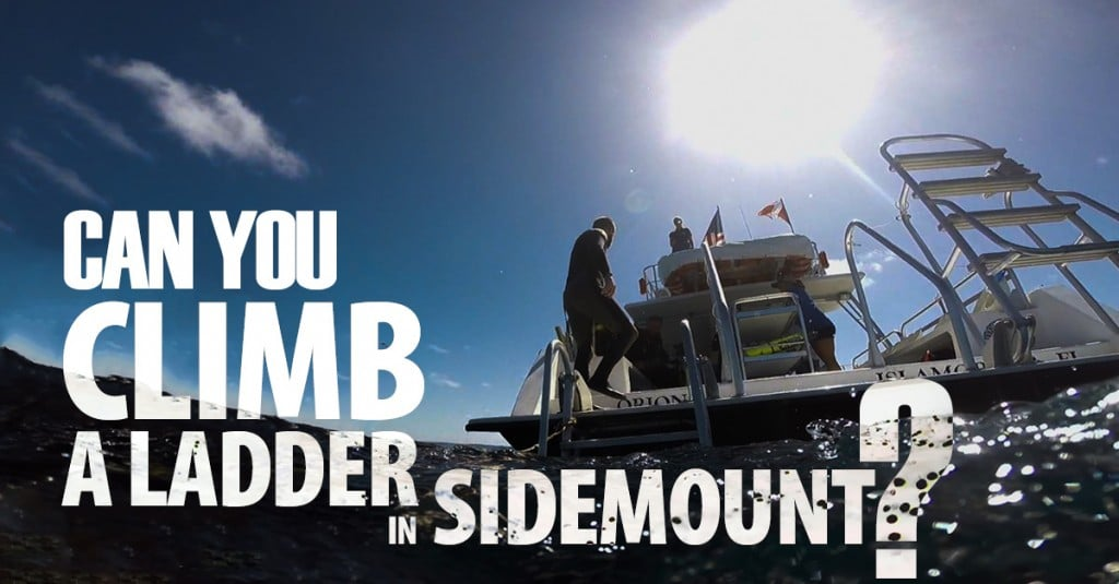 Can You Climb A Boat Ladder In Sidemount