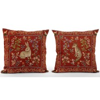 Medieval Animal Tapestry Pillows | Pillows | Home Decor ...