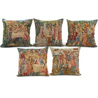 Medieval Wine Harvest Tapestry Pillows | Pillows | Home ...