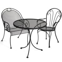 Black Wrought Iron Indoor Outdoor Furniture | Other Small ...