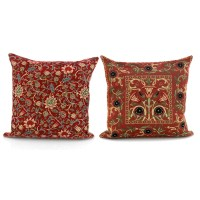 Red Tapestry Pillows | Pillows | Home Decor Accessories ...