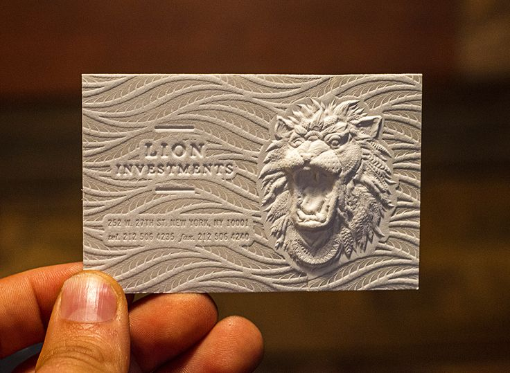 business cards embossed