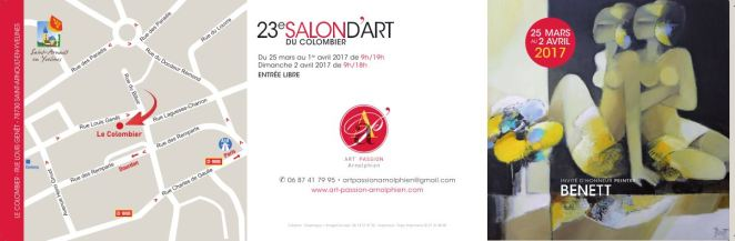 SALON D'ART DU COLOMBIER SAINT ARNOULT EN YVELINES 2017 INVITATION b