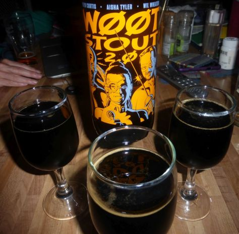 w00tstout 2.0 pours dark black.
