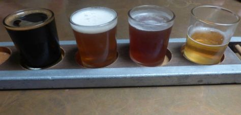 Taster flight at On the Rails.