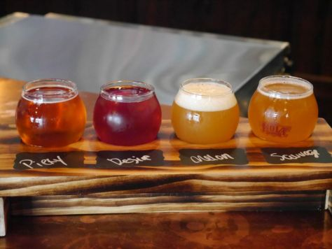 Brett and sour beer taster flight.