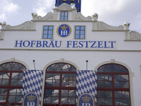 One of the other beer tents in the festival.