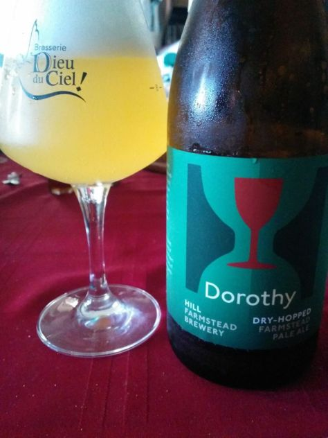 Enjoying a bottle of Dorothy at home.