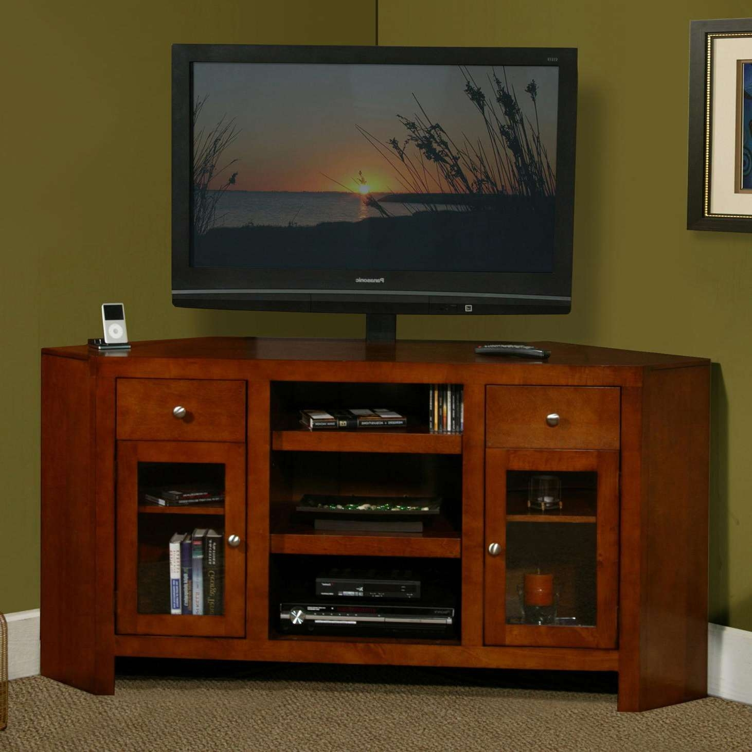 ... Large Of Tall Corner Tv Stand ...