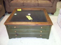 Display Coffee Table Glass Top