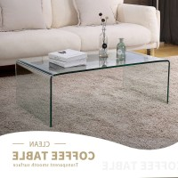 The unique transparent coffee table