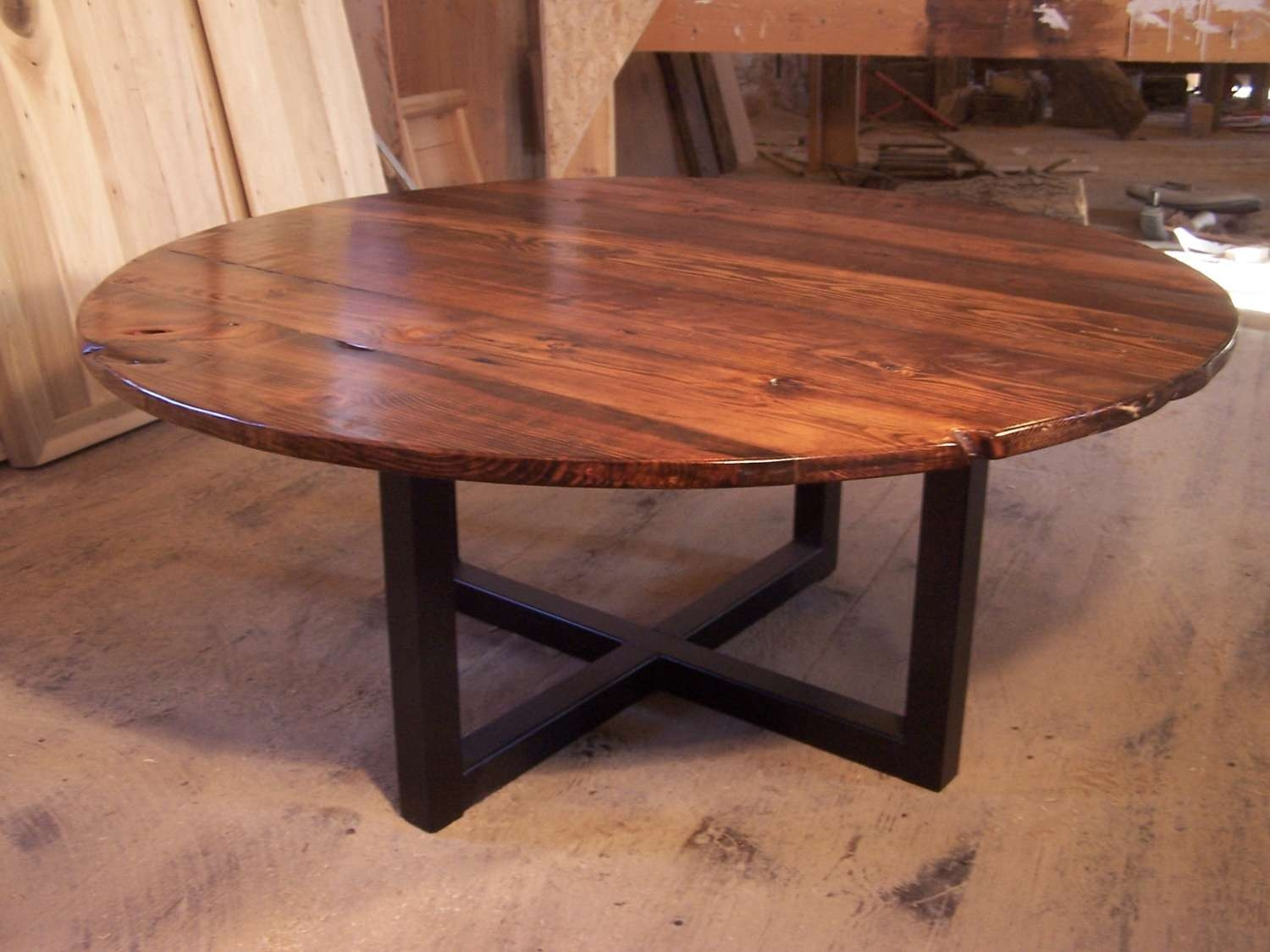 Showing Photos Of Industrial Round Coffee Tables View 6