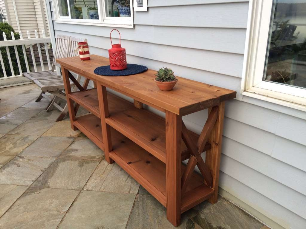 Displaying Gallery Of Outdoor Sideboards With Console