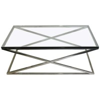 Glass Chrome Coffee Table Rectangle - The Coffee Table