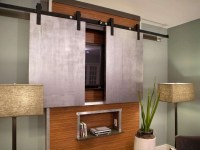 Gallery of Wall Mounted Tv Cabinets With Sliding Doors ...