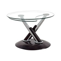 Revolving Glass Coffee Table - Rascalartsnyc