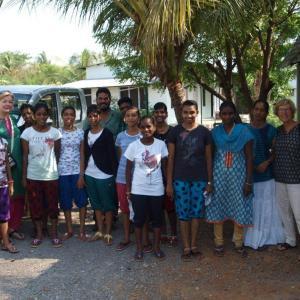 Voor het eerst naar Vizag-Visakhapatnam  met 10 meisjes.